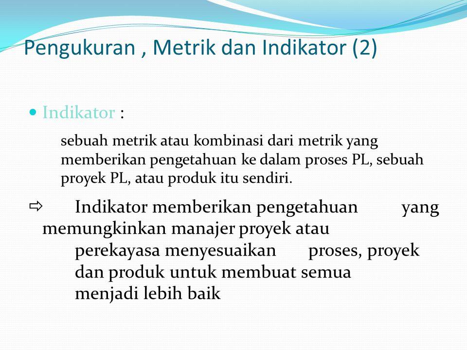 Pengukuran , Metrik dan Indikator (2)