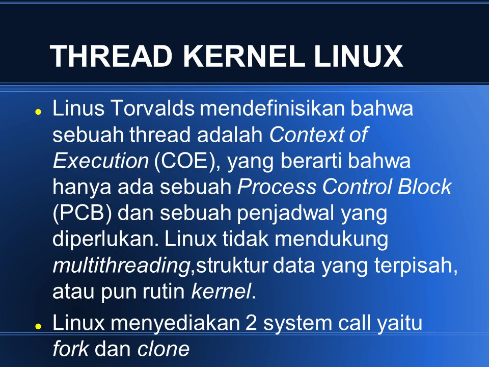 THREAD KERNEL LINUX