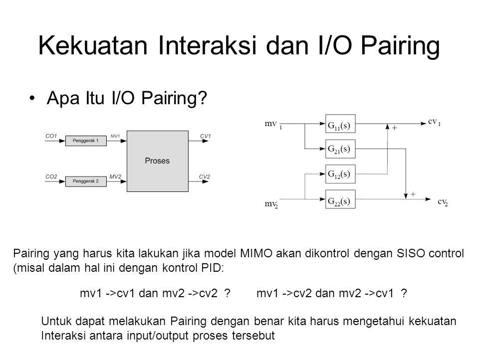 Kekuatan Interaksi dan I/O Pairing