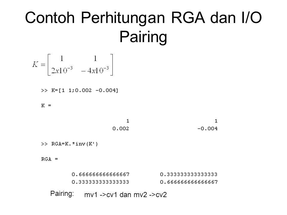 Contoh Perhitungan RGA dan I/O Pairing