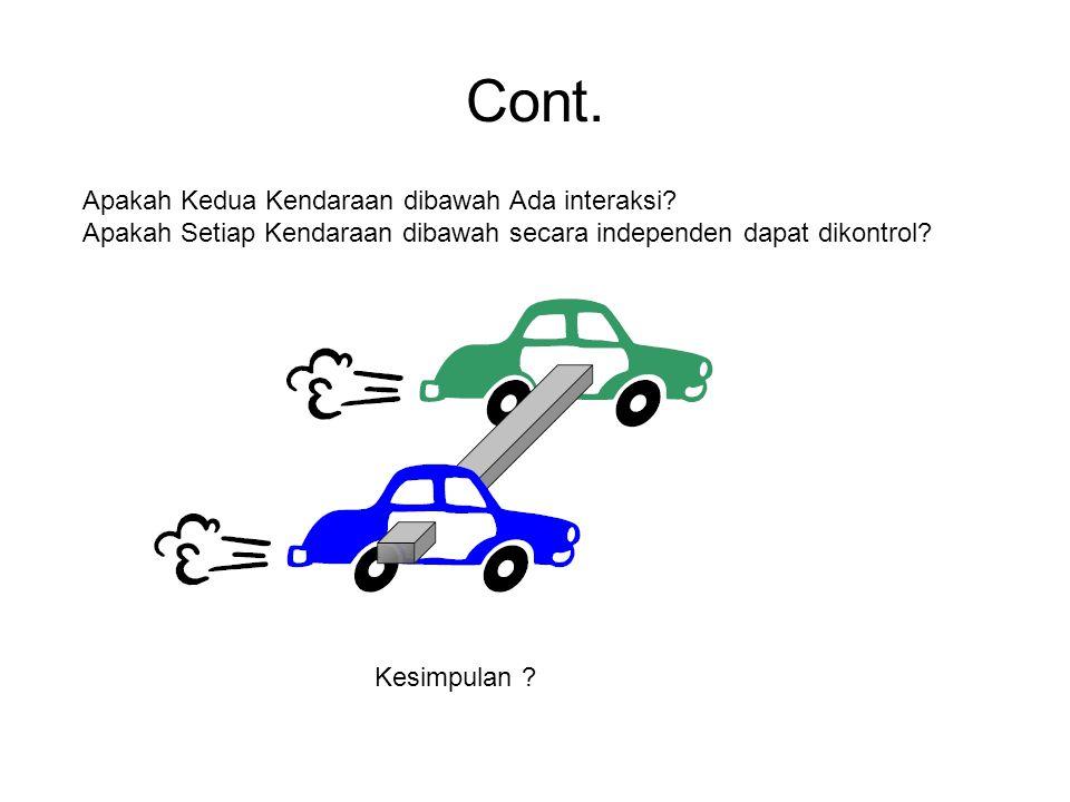 Cont. Apakah Kedua Kendaraan dibawah Ada interaksi