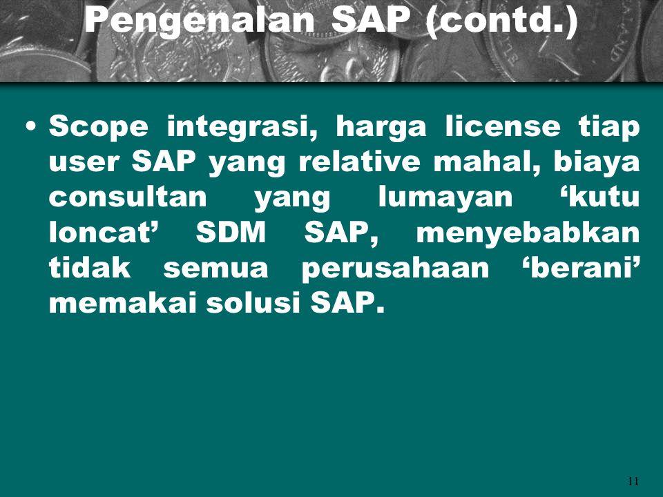 Pengenalan SAP (contd.)