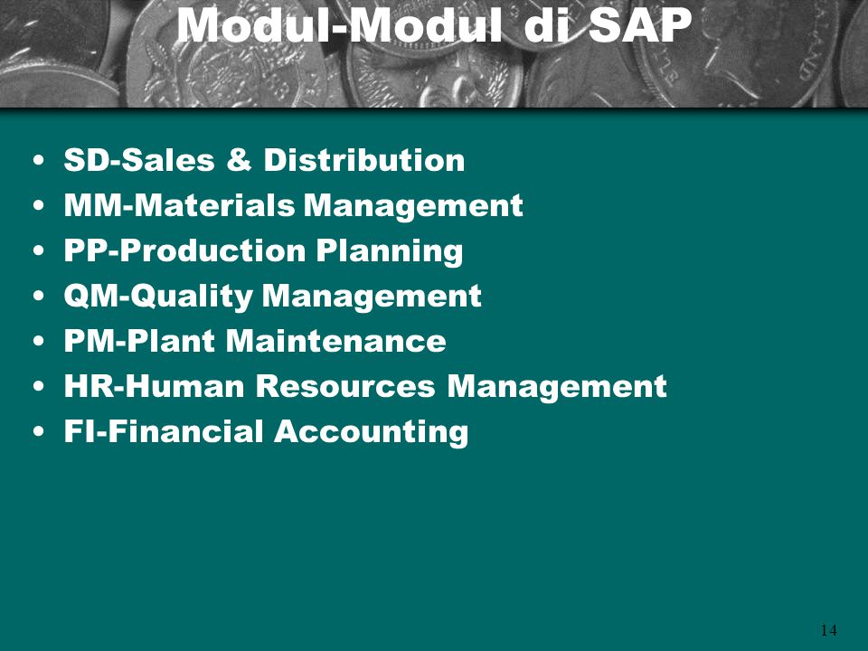 Modul-Modul di SAP SD-Sales & Distribution MM-Materials Management