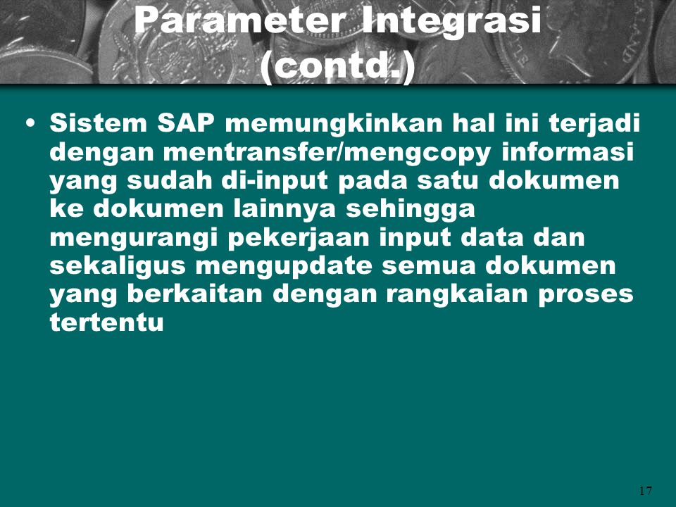 Parameter Integrasi (contd.)