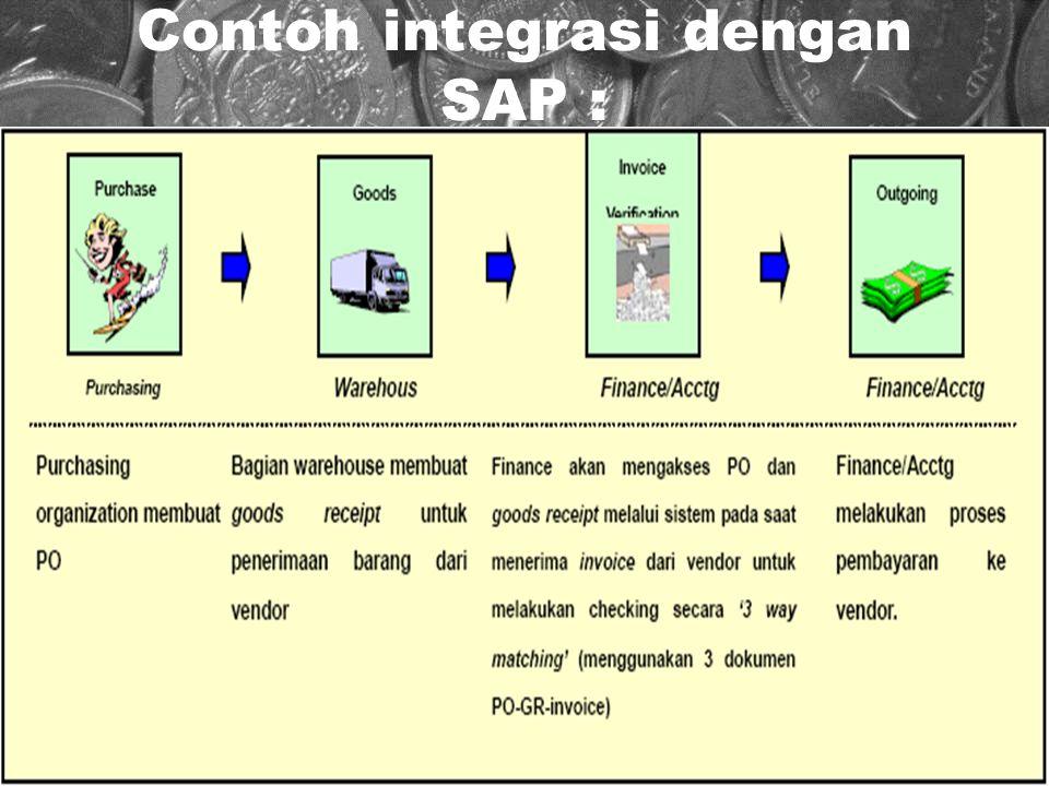 Contoh integrasi dengan SAP :