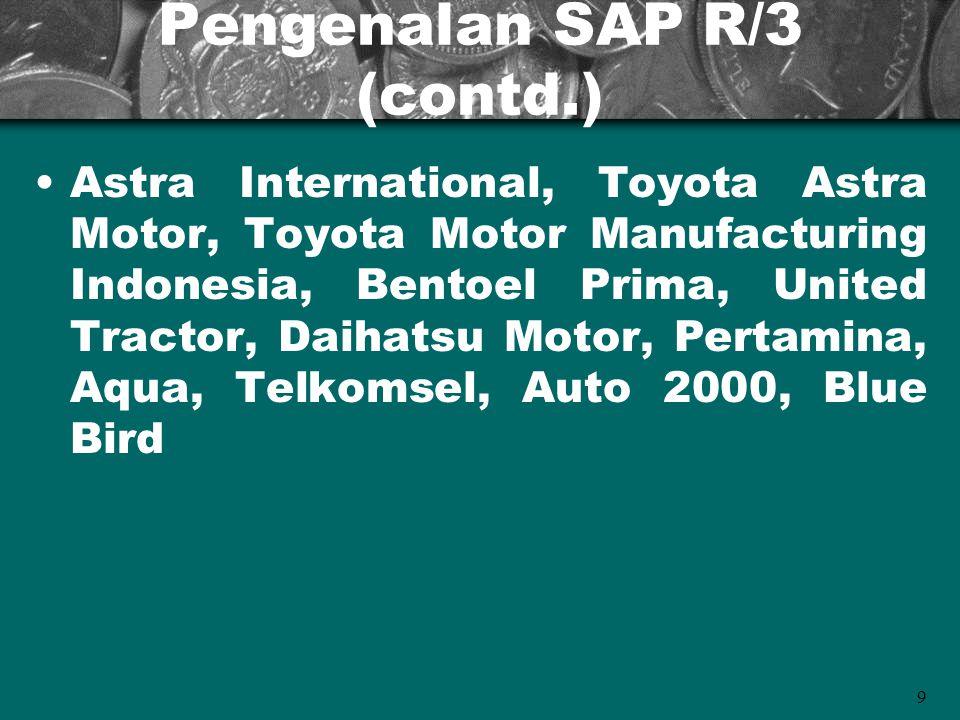 Pengenalan SAP R/3 (contd.)