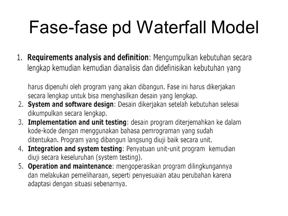 Fase-fase pd Waterfall Model
