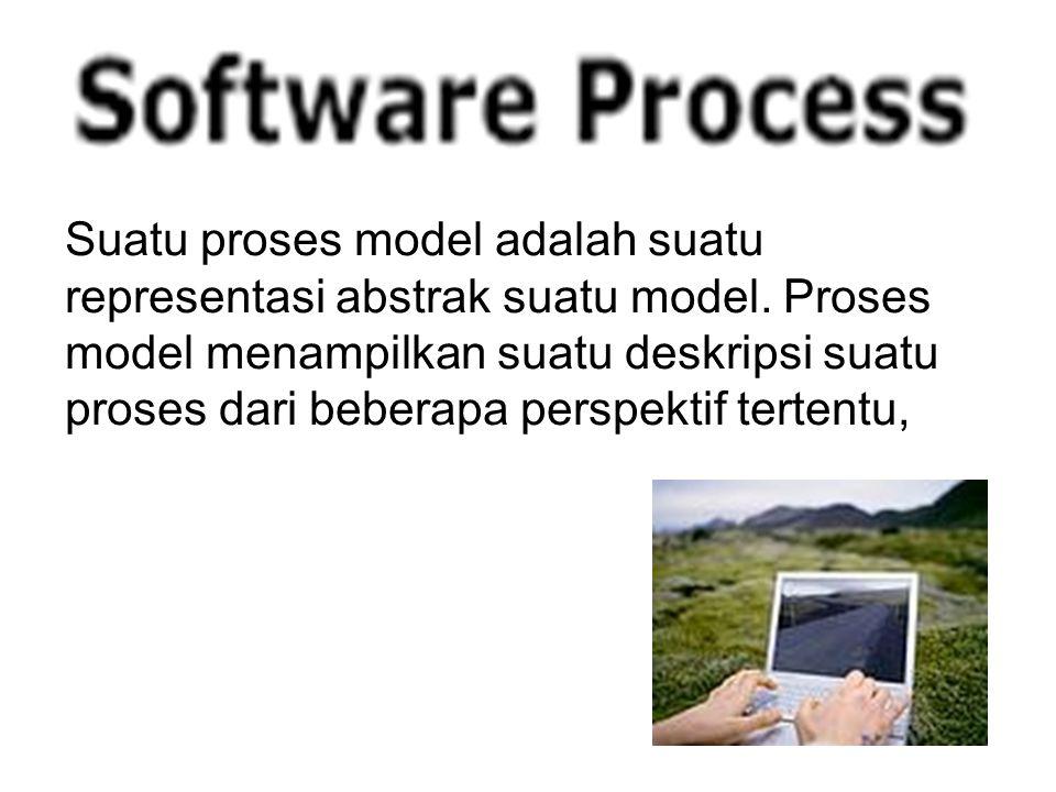 Suatu proses model adalah suatu representasi abstrak suatu model