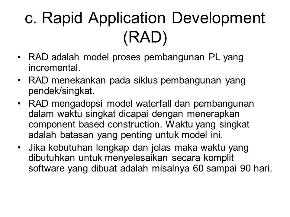 c. Rapid Application Development (RAD)