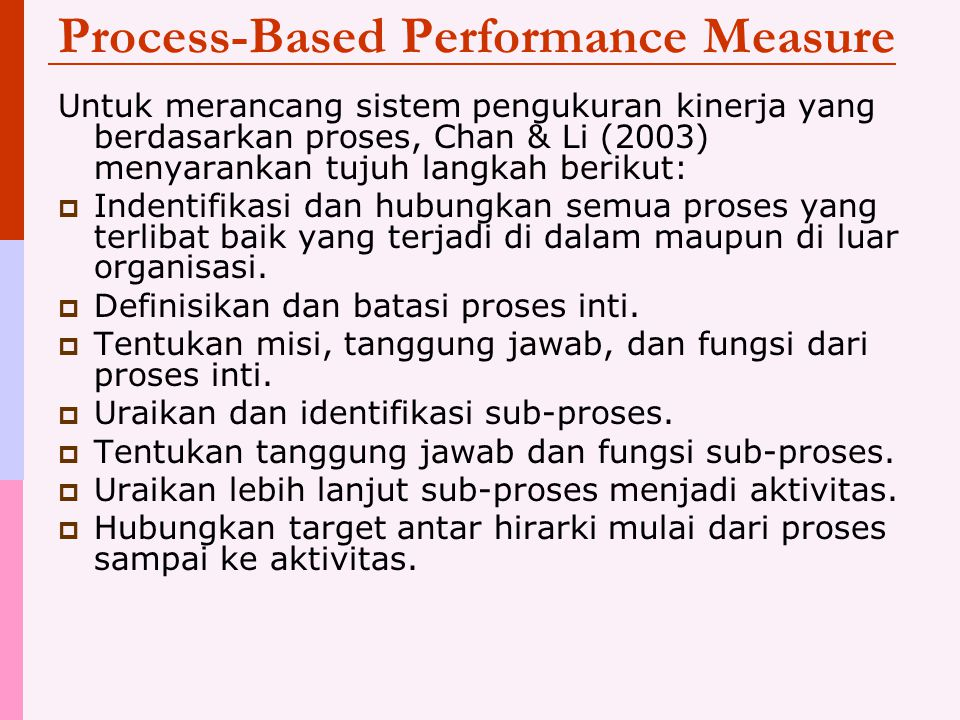 Process-Based Performance Measure
