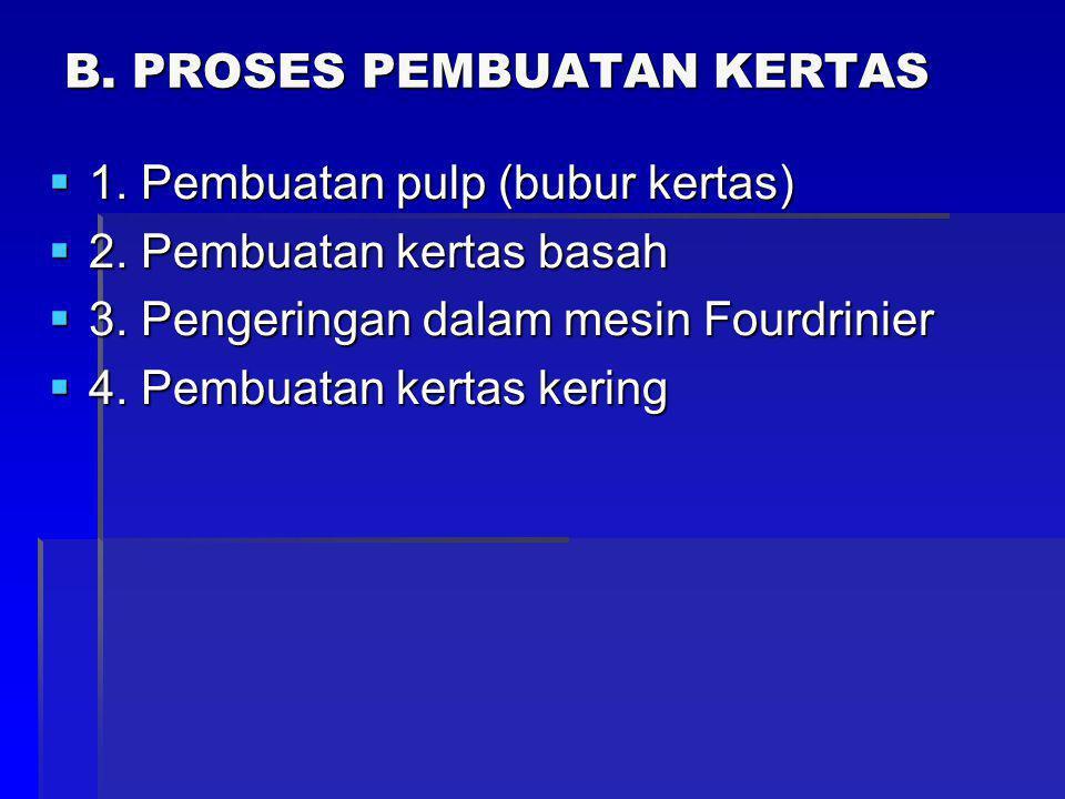 B. PROSES PEMBUATAN KERTAS