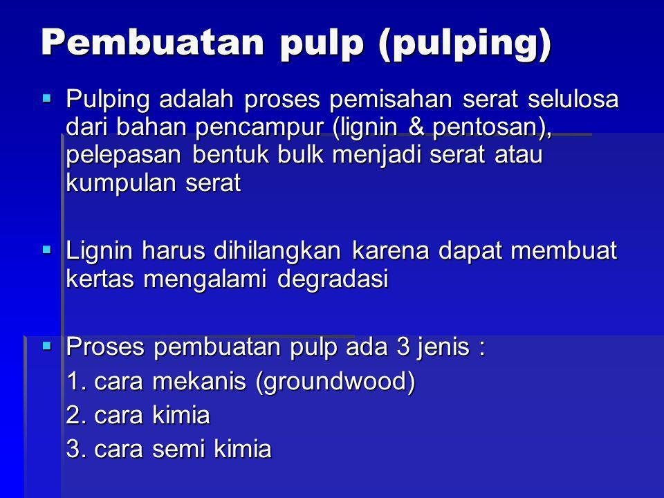 Pembuatan pulp (pulping)