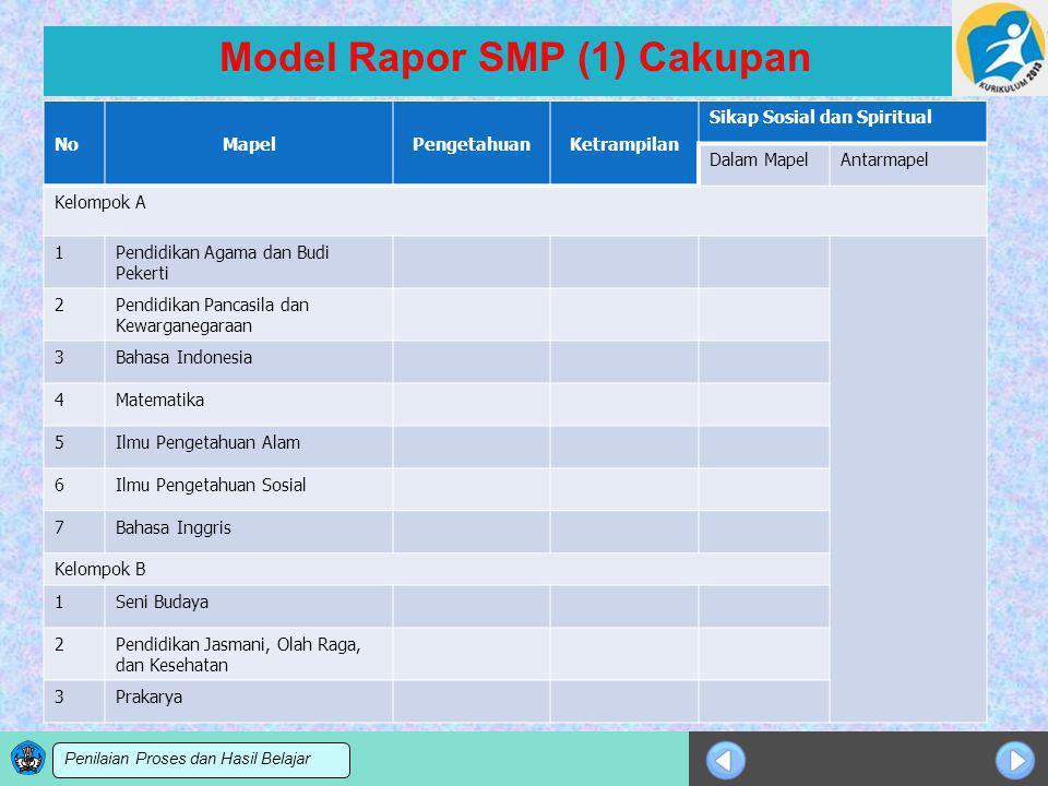 Model Rapor SMP (1) Cakupan