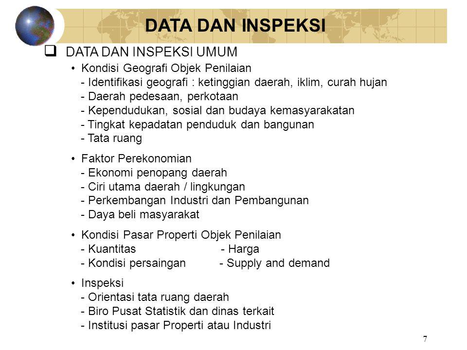DATA DAN INSPEKSI DATA DAN INSPEKSI UMUM