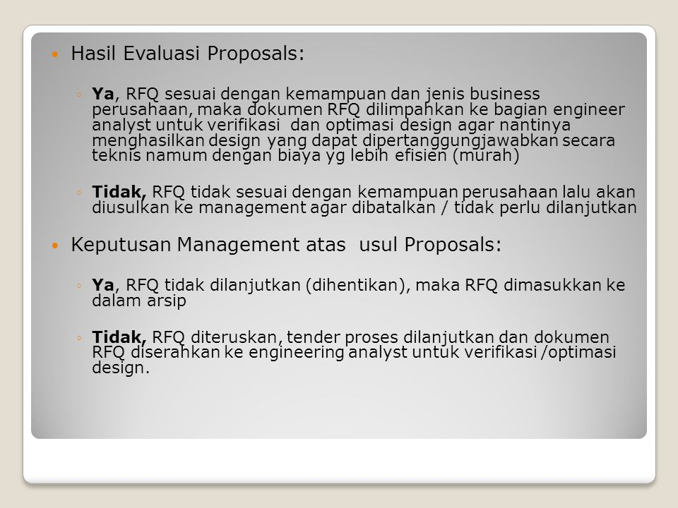 Hasil Evaluasi Proposals:
