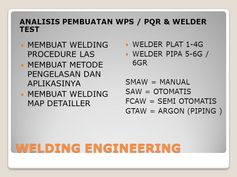 WELDING ENGINEERING MEMBUAT WELDING PROCEDURE LAS