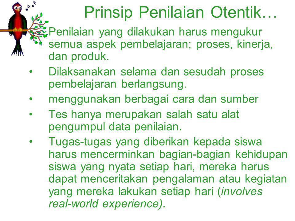 Prinsip Penilaian Otentik…
