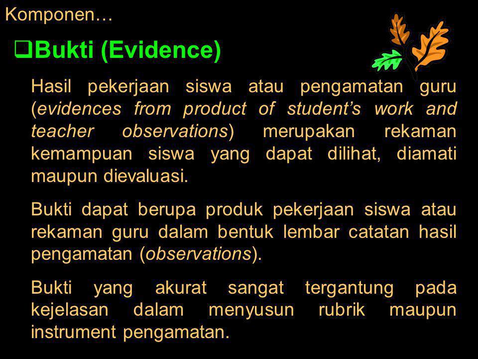 Bukti (Evidence) Komponen…