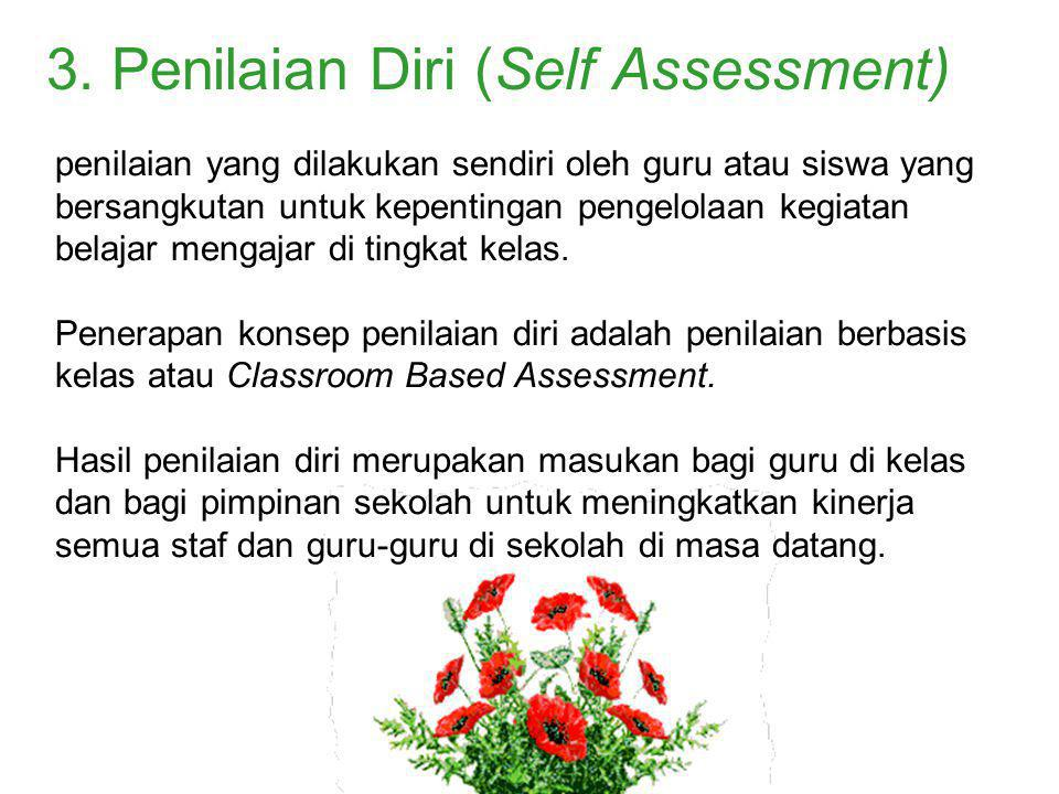 3. Penilaian Diri (Self Assessment)