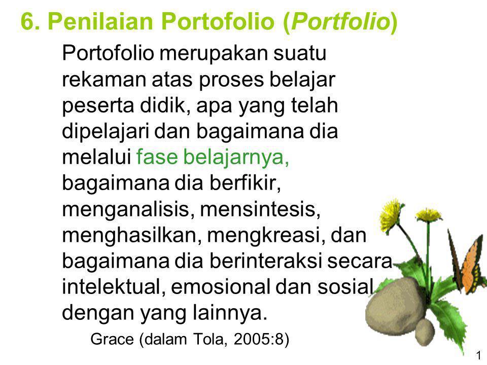 6. Penilaian Portofolio (Portfolio)