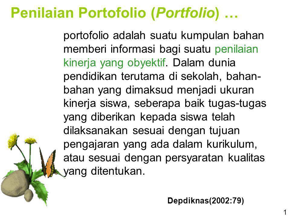 Penilaian Portofolio (Portfolio) …
