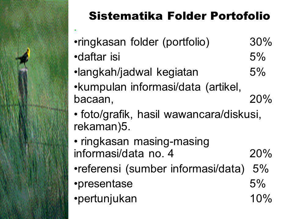 Sistematika Folder Portofolio