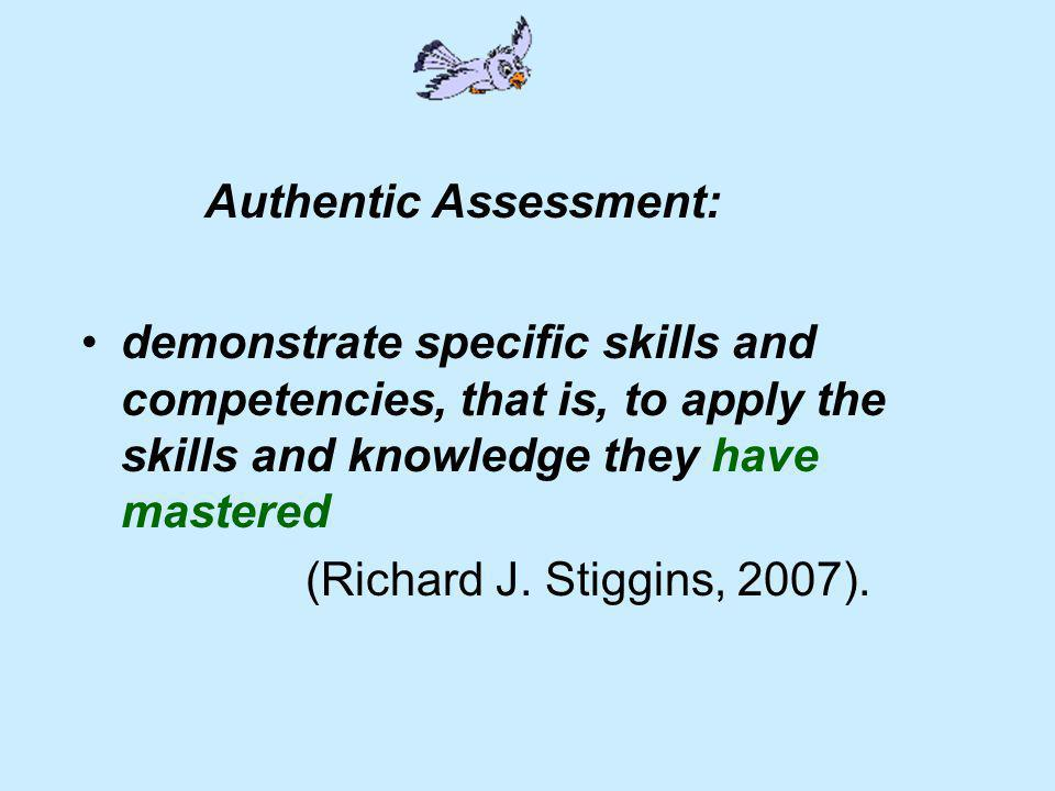 Authentic Assessment: