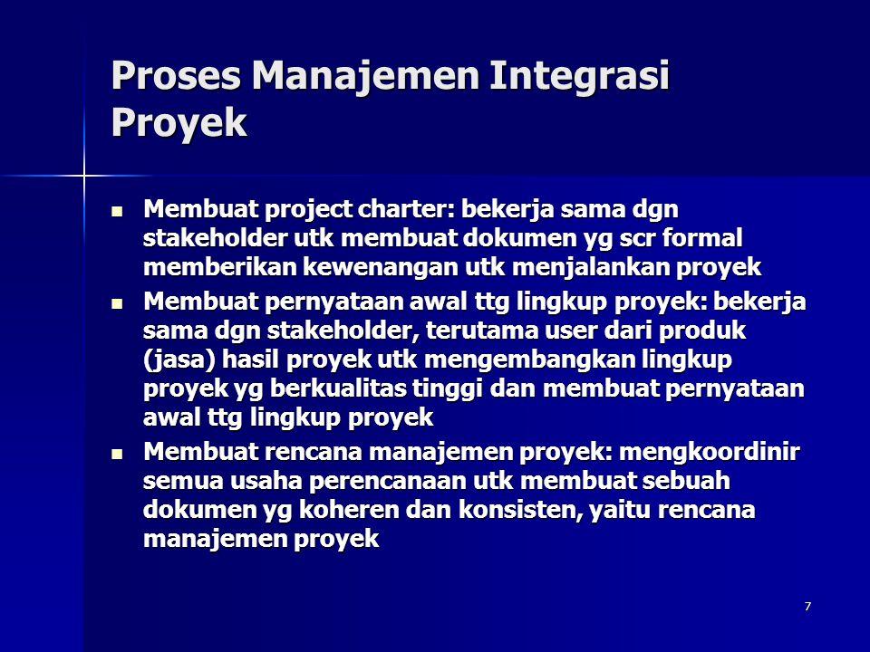 Proses Manajemen Integrasi Proyek