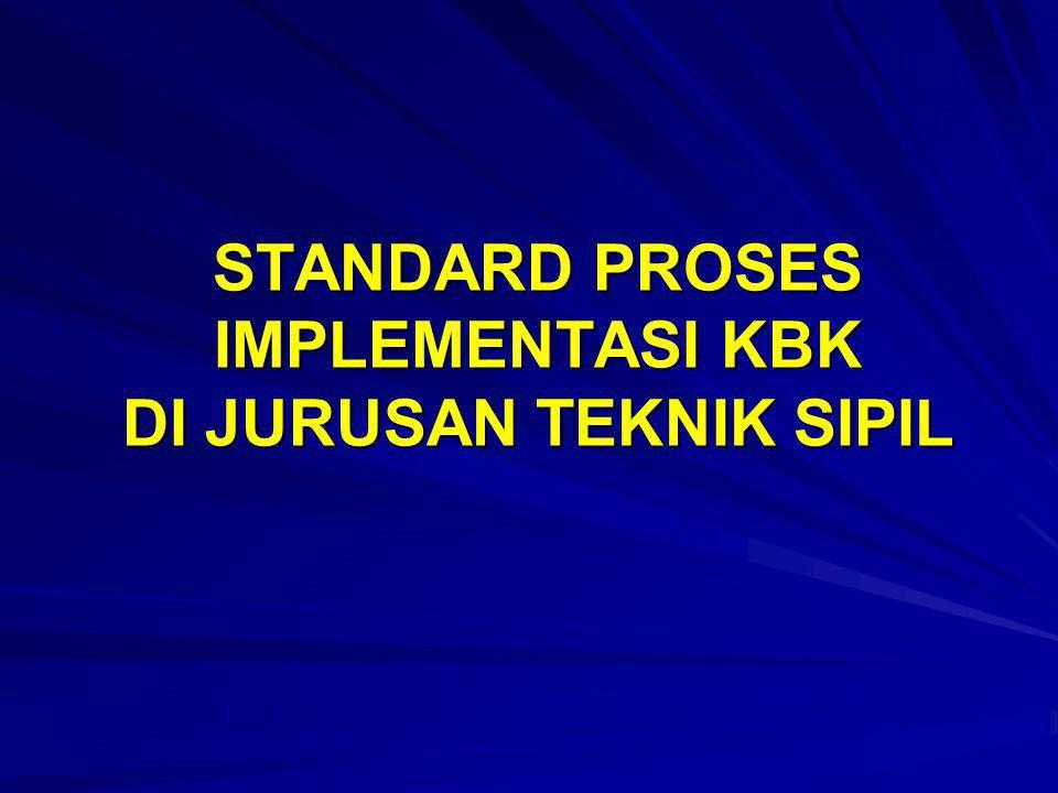 STANDARD PROSES IMPLEMENTASI KBK DI JURUSAN TEKNIK SIPIL