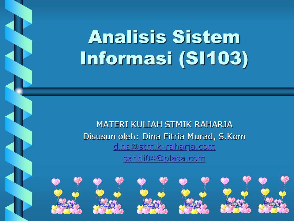 Analisis Sistem Informasi (SI103)