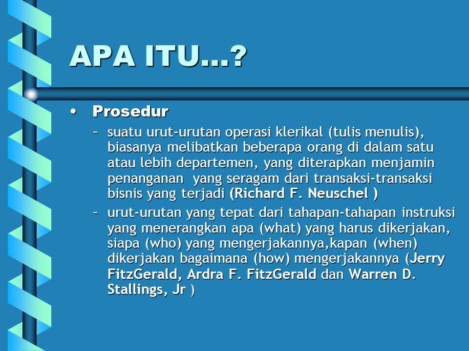 APA ITU... Prosedur.