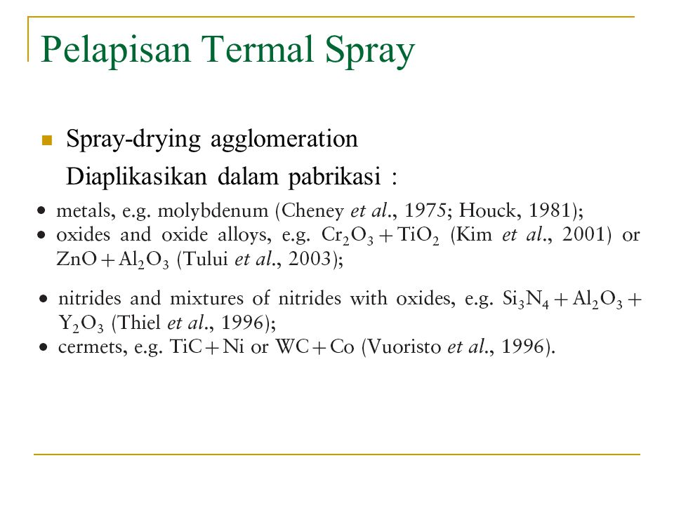 Pelapisan Termal Spray