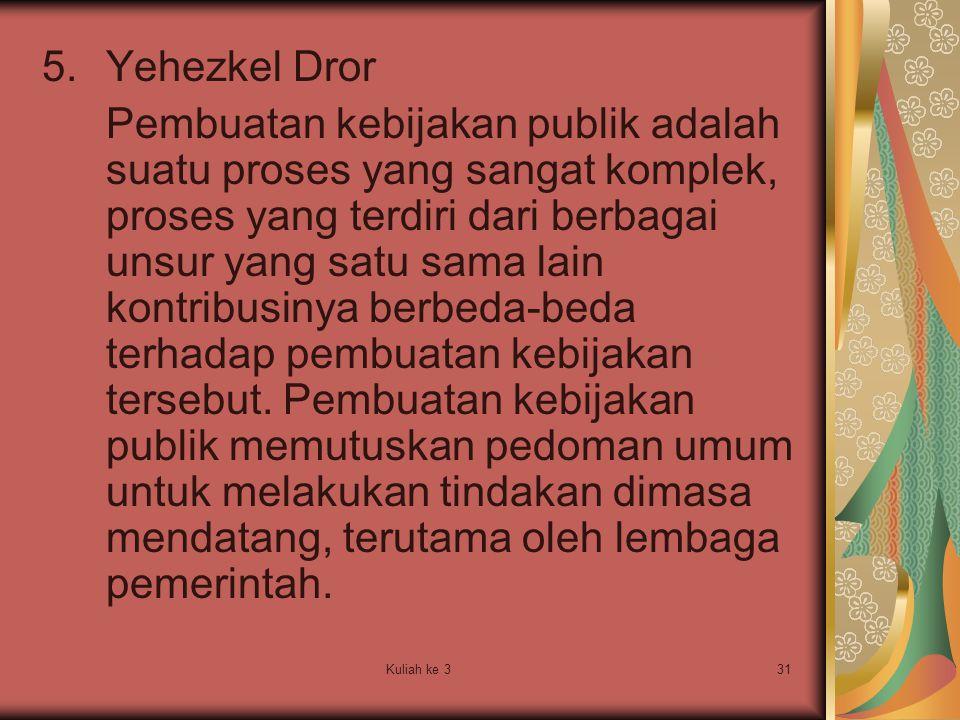 Yehezkel Dror