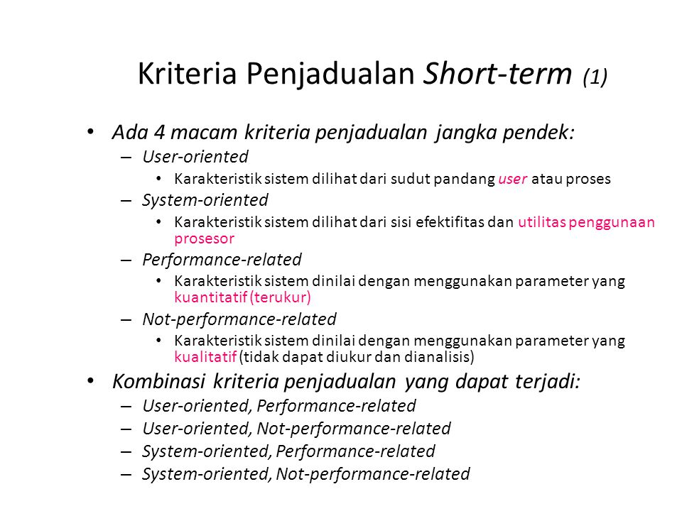 Kriteria Penjadualan Short-term (2)