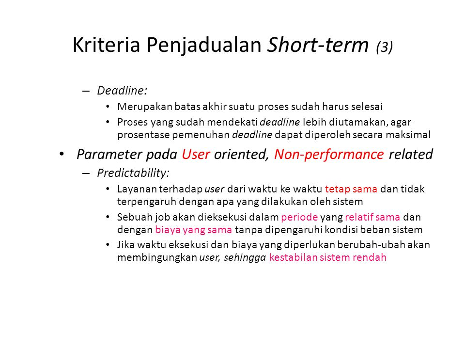 Kriteria Penjadualan Short-term (4)
