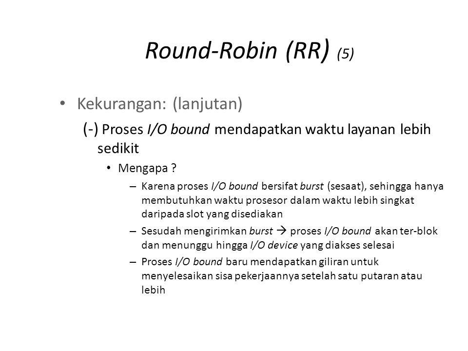 Round-Robin (RR) (6) Solusi: