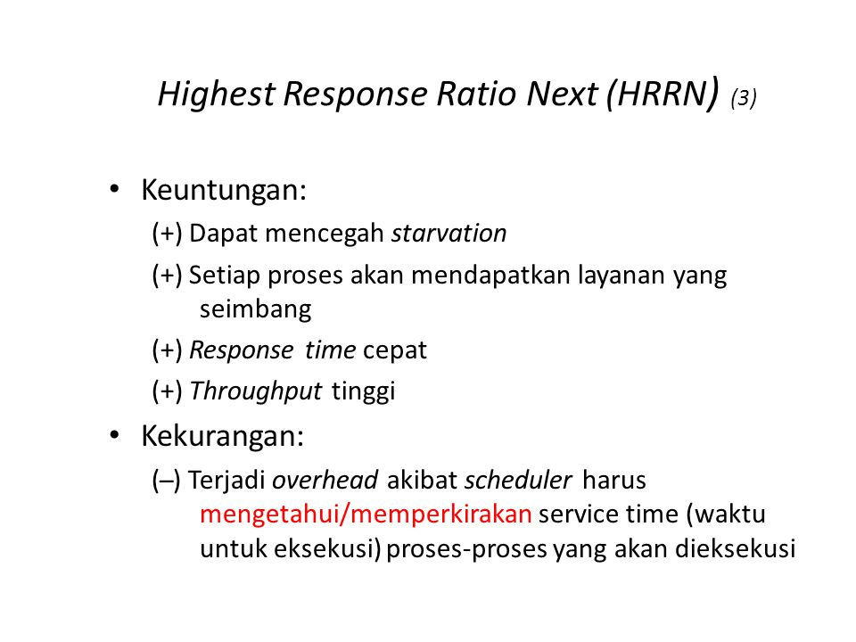 Highest Response Ratio Next (HRRN) (4)