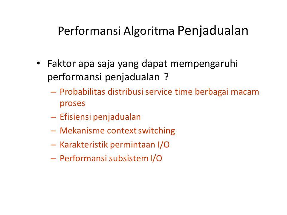 Analisis Antrian (1) Kondisi analisis: