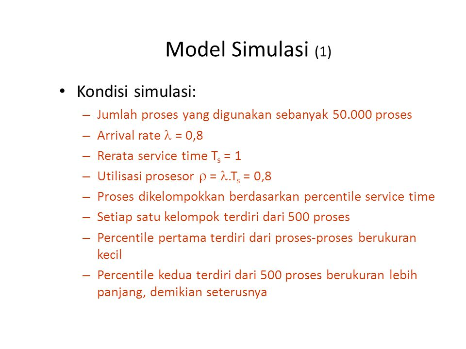 Model Simulasi (2) Grafik Normalized Turnaround Time hasil simulasi: