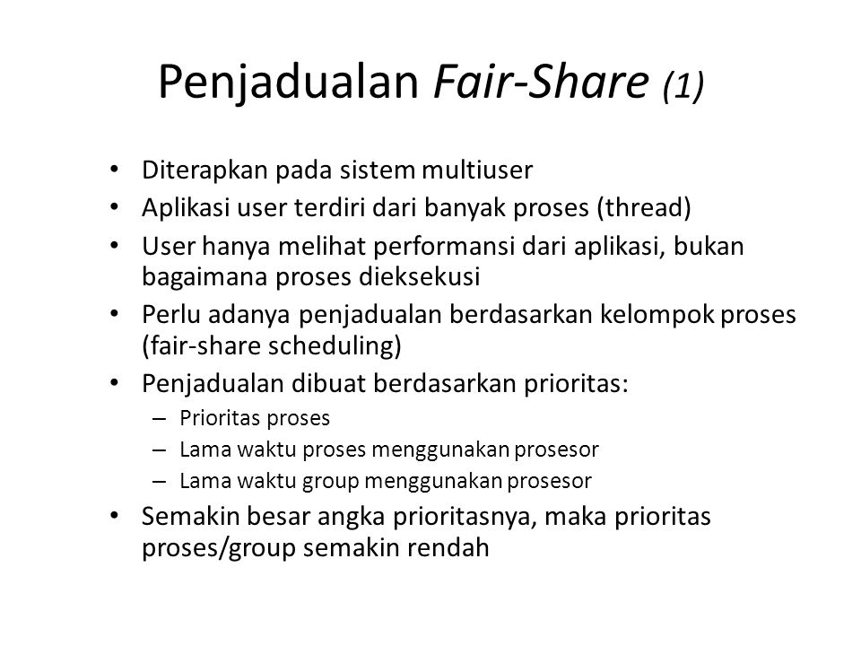 Penjadualan Fair-Share (2)