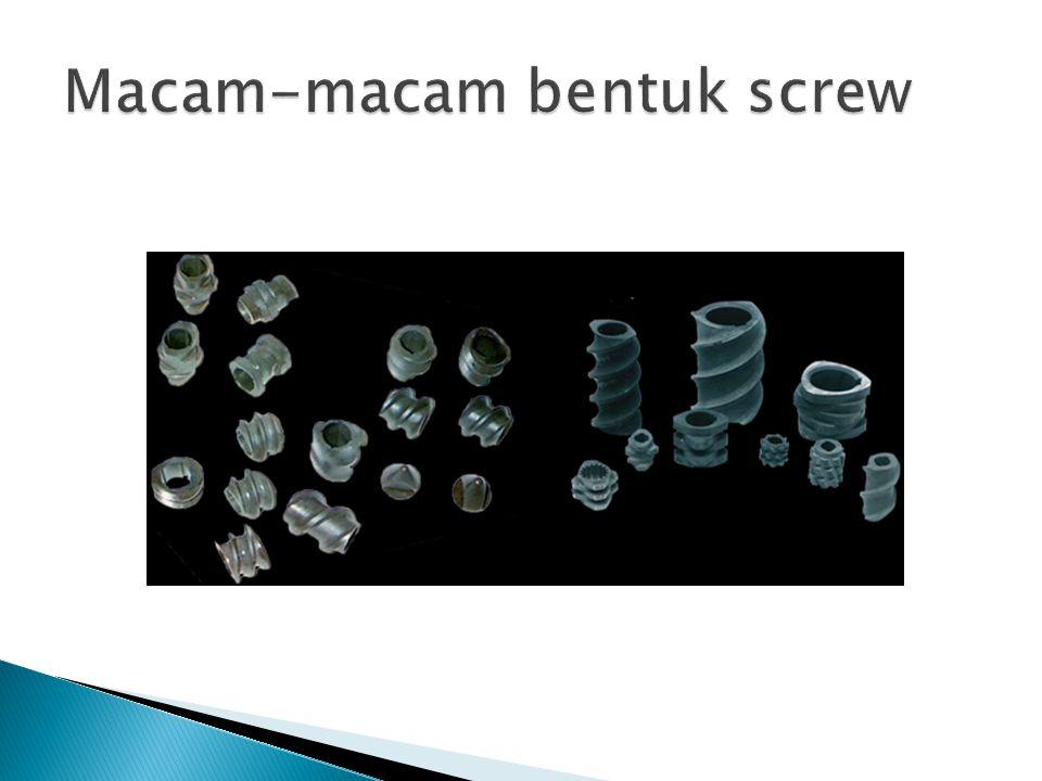 Macam-macam bentuk screw