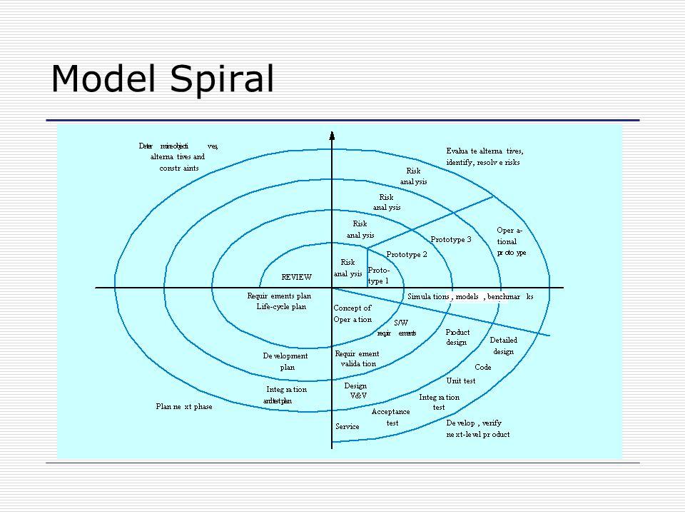 Sektor Model Spiral Penentuan tujuan Penilaian dan pengurangan resiko