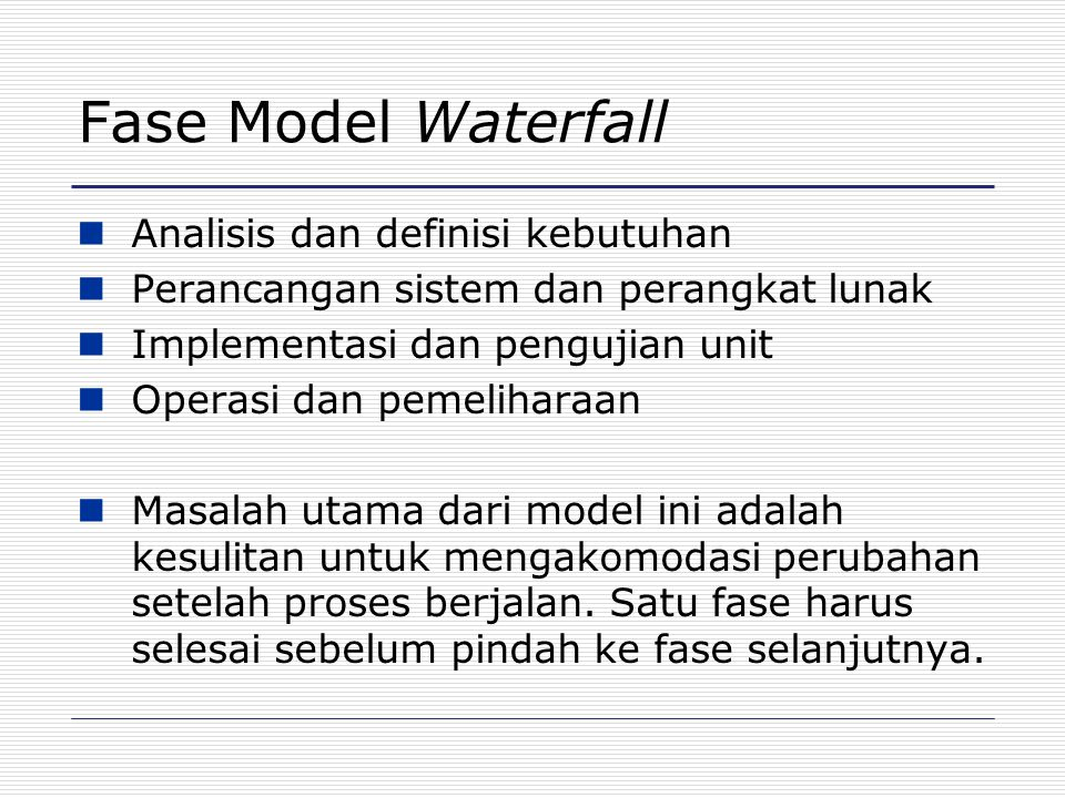 Masalah Model Waterfall