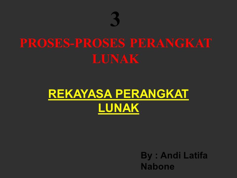 PROSES-PROSES PERANGKAT LUNAK