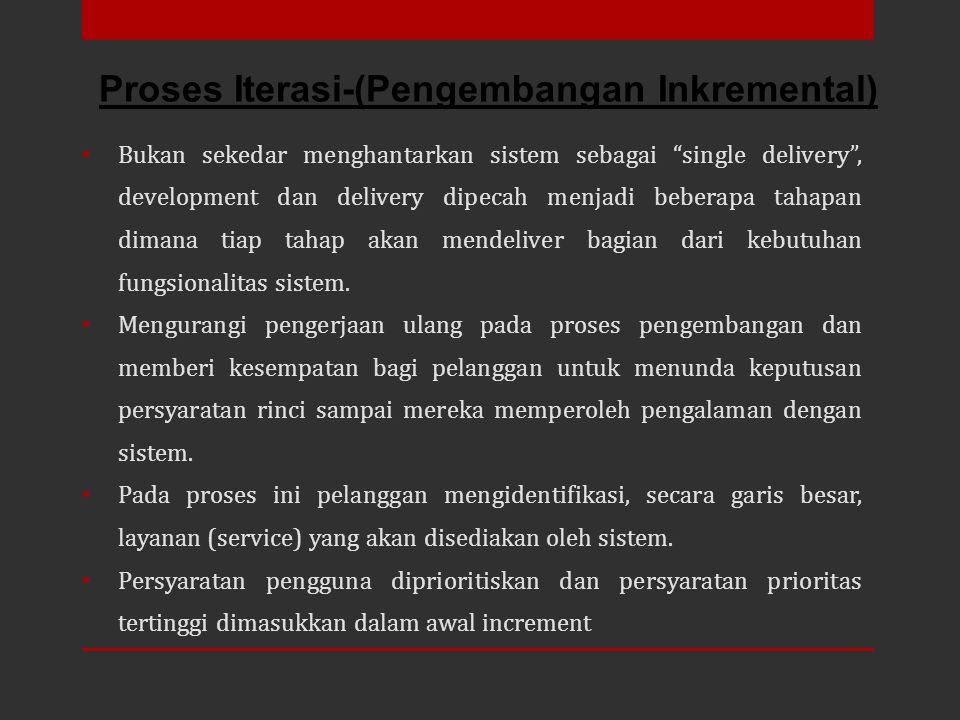Proses Iterasi-(Pengembangan Inkremental)