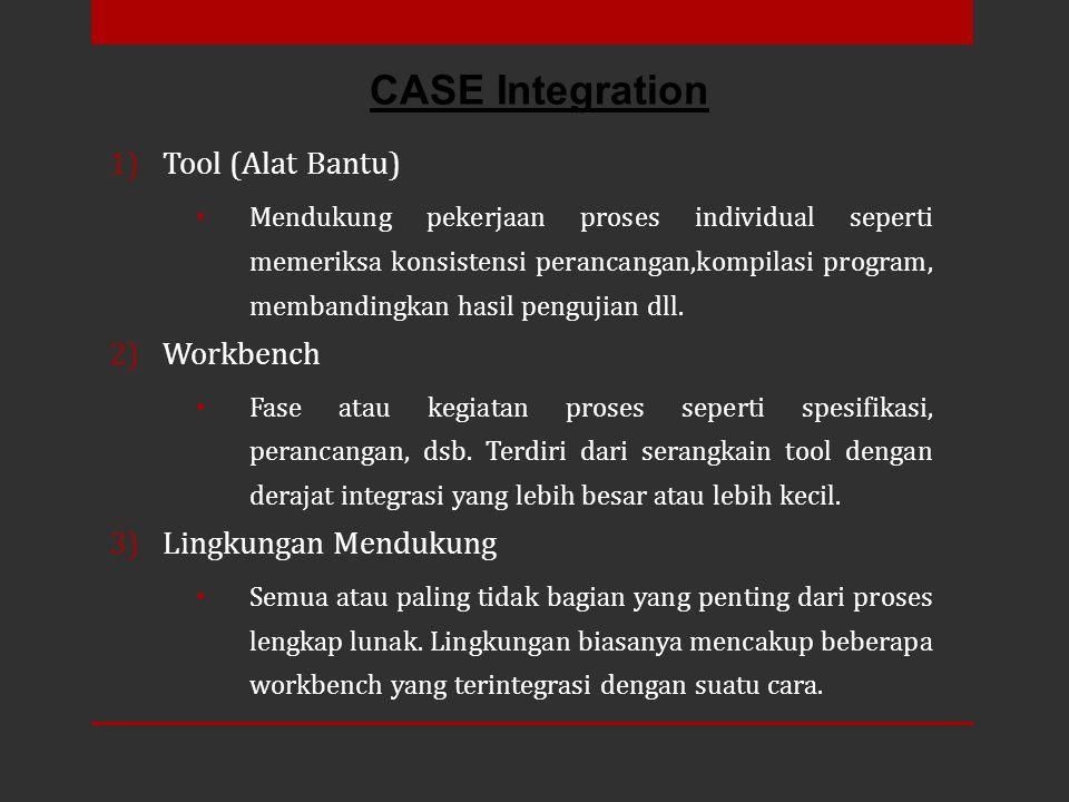 CASE Integration Tool (Alat Bantu) Workbench Lingkungan Mendukung