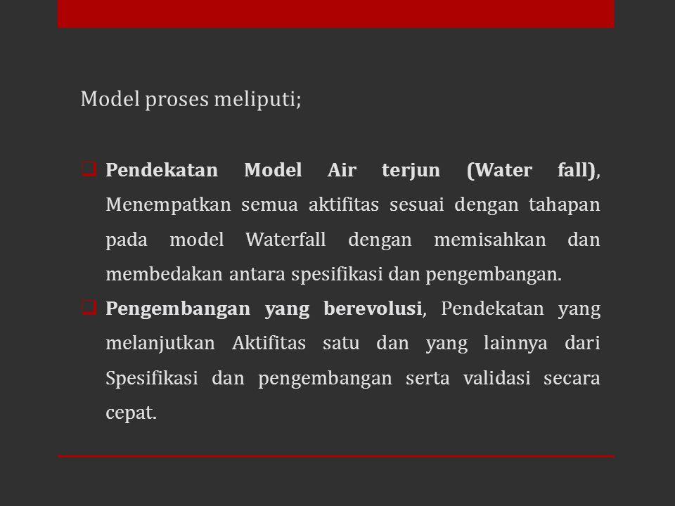 Model proses meliputi;