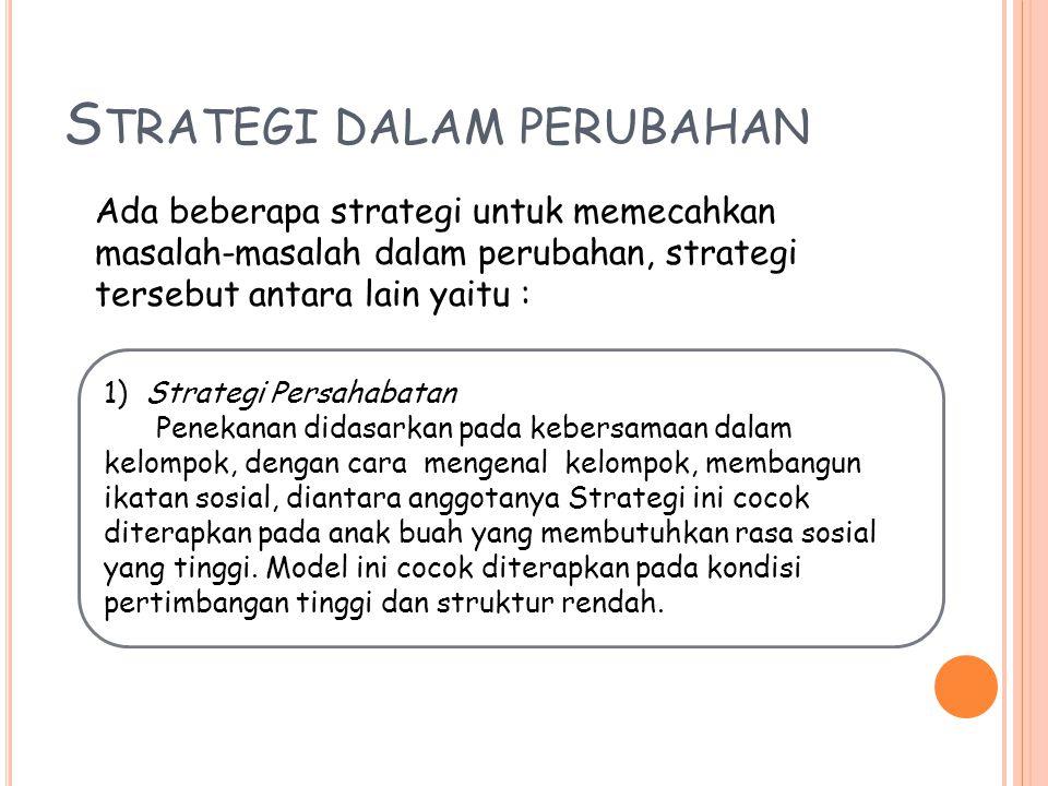 Strategi dalam perubahan