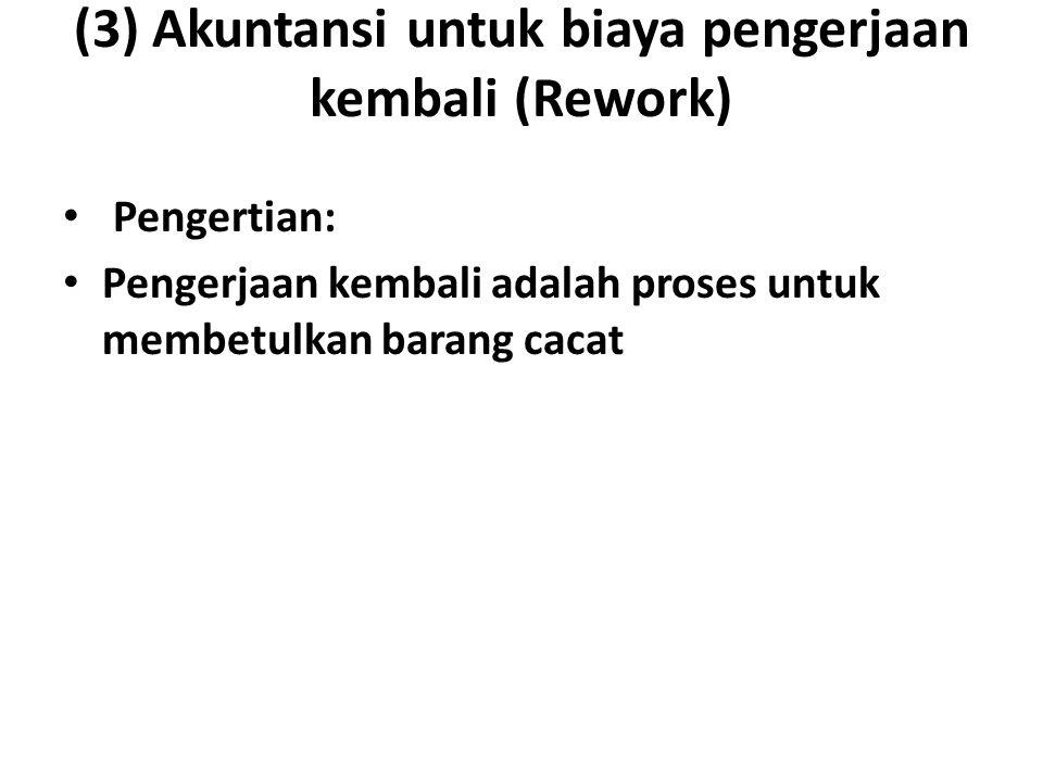 (3) Akuntansi untuk biaya pengerjaan kembali (Rework)