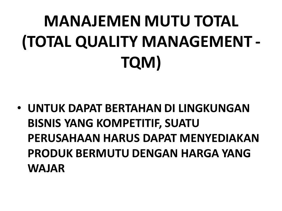 MANAJEMEN MUTU TOTAL (TOTAL QUALITY MANAGEMENT - TQM)